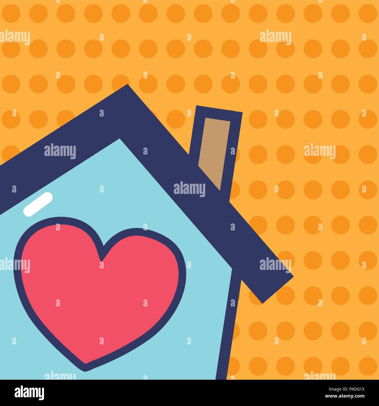 Sweet home cartoon - Stock Vector