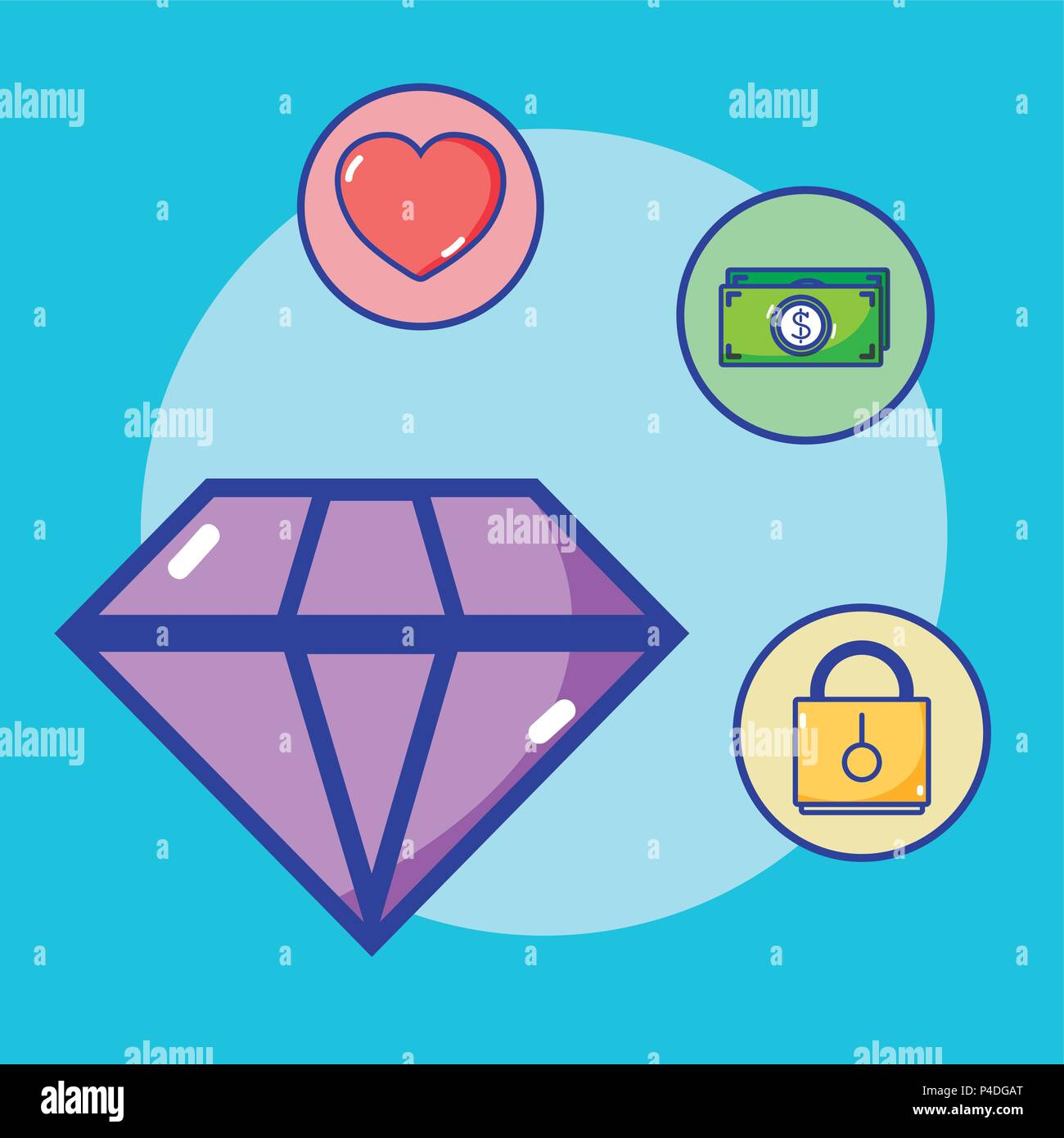 Money and investing - Stock Image