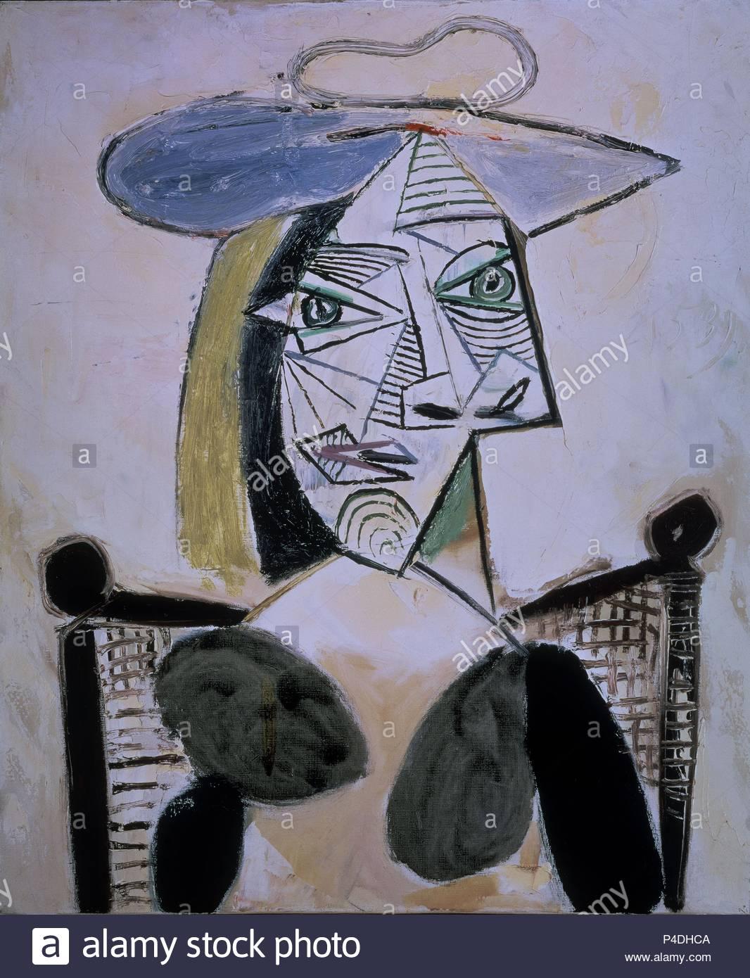 Portrait of a Woman - 1939 - oil on canvas. Author: Pablo Picasso ...