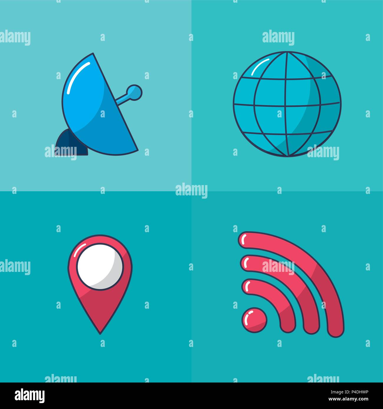 Internet and multimedia - Stock Image