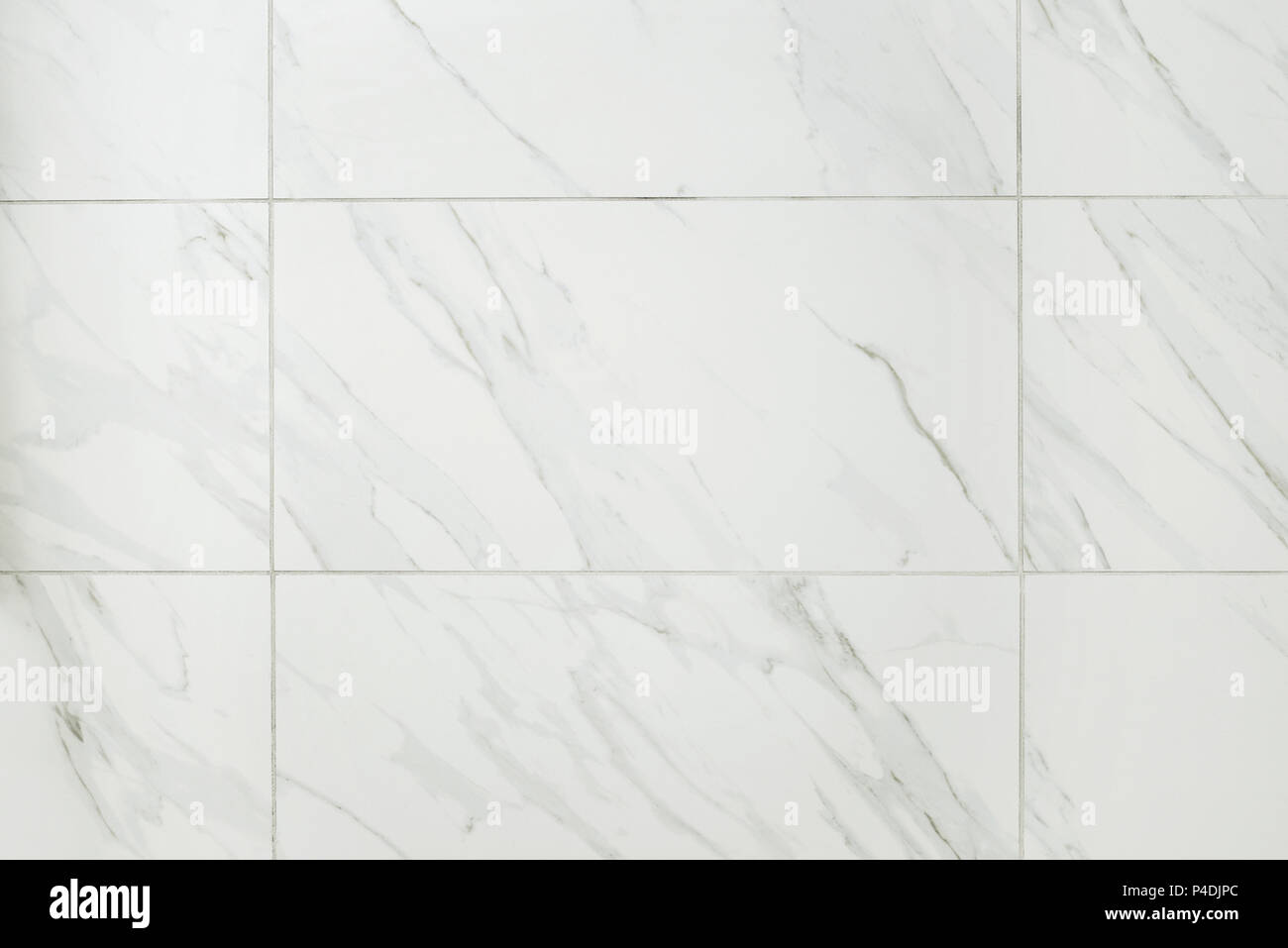 Large Marble Tile Bathroom Wall Stock Photo Alamy