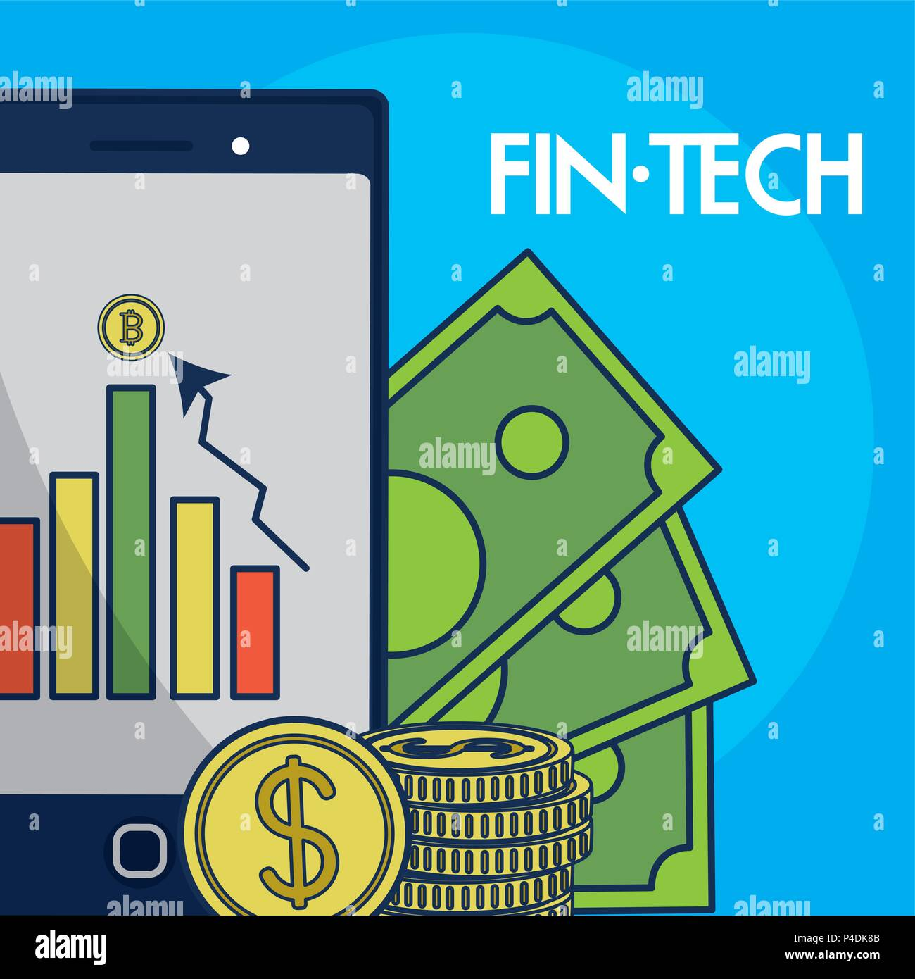 Financial Technolgoy concept - Stock Image