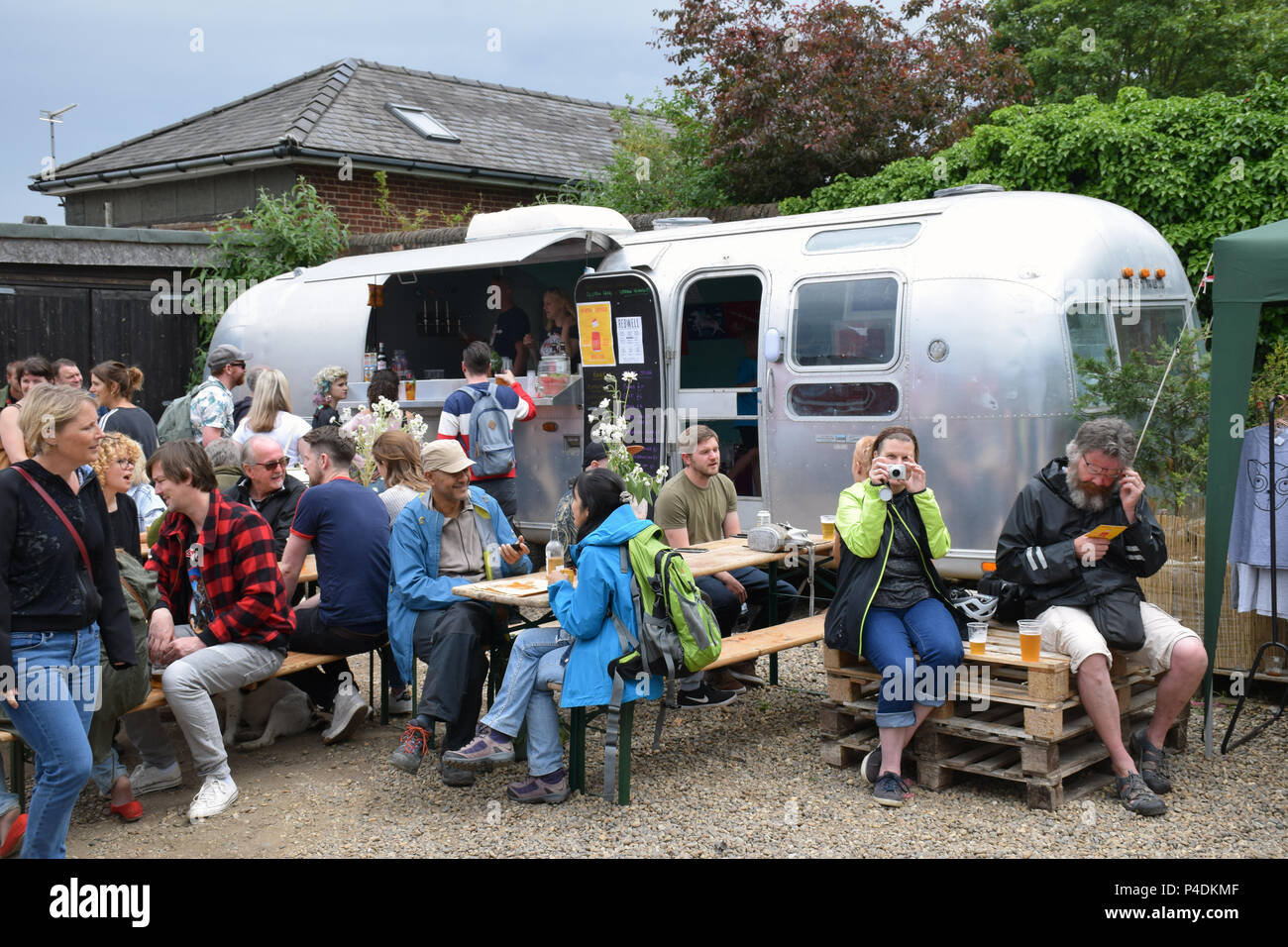 Redwell Brewery Art Car Boot Fair, annual festival showcasing local artists. Norwich June 2018 - Stock Image