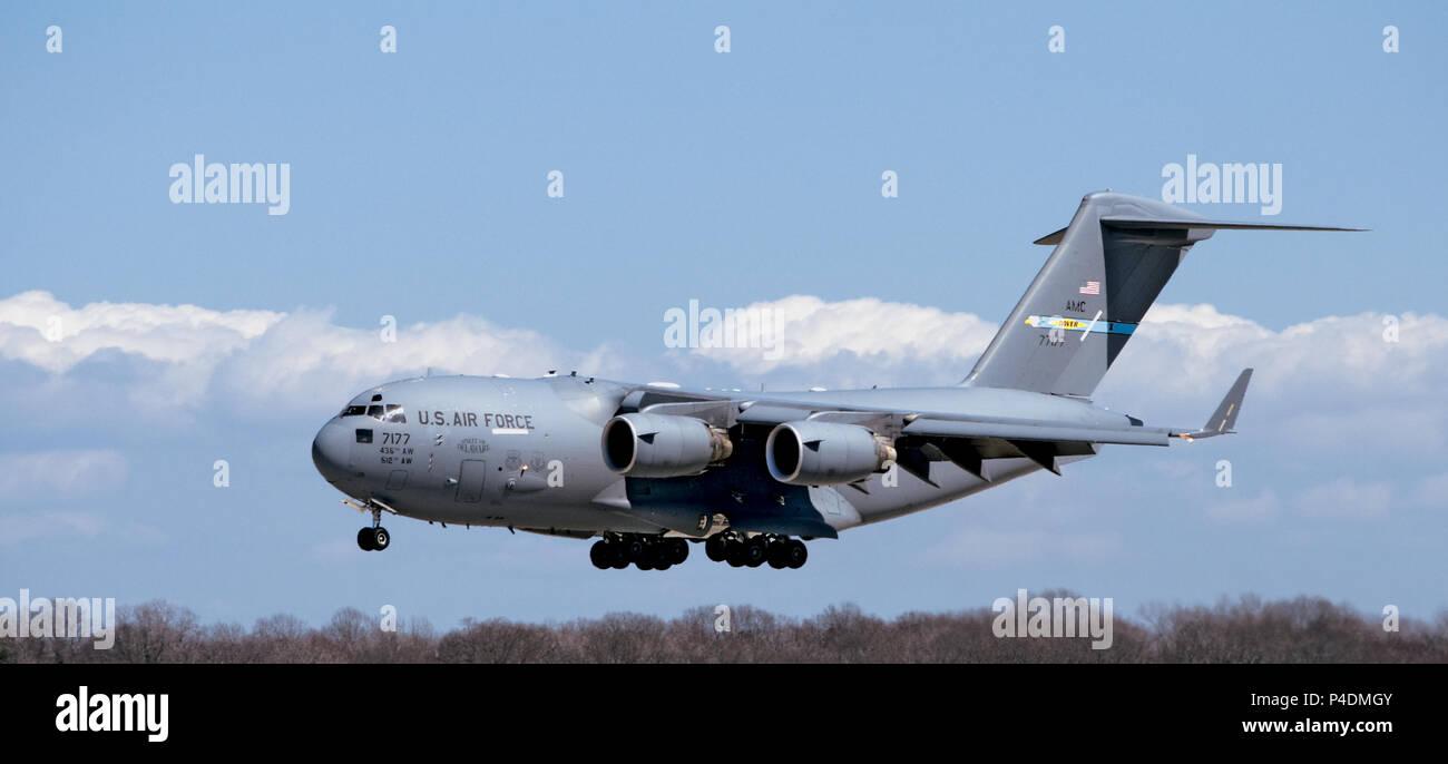 USAF Unites States Air Force C-17 Globemaster III - Stock Image
