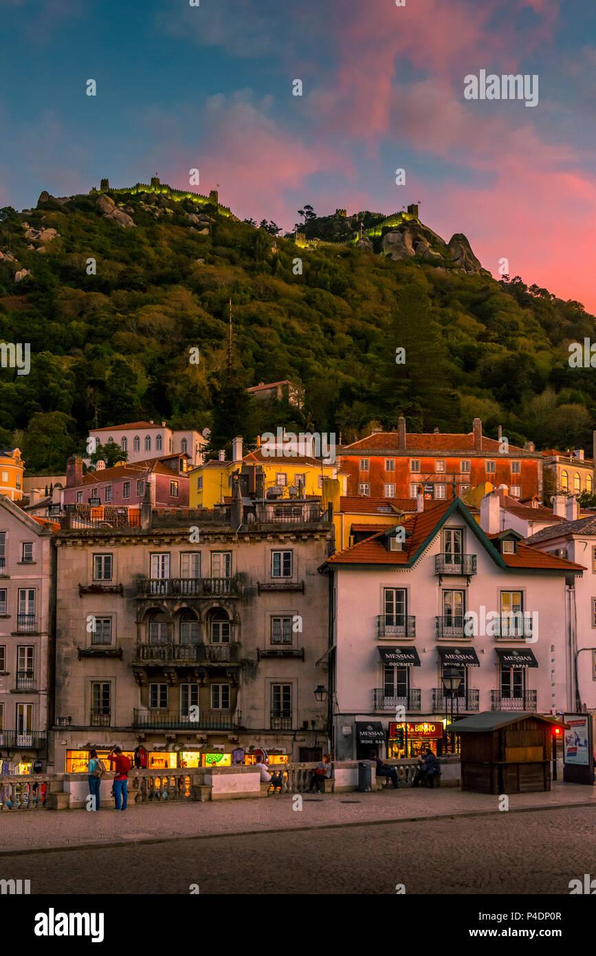 Europa, Portugal, Lissabon, Sintra,  Palacio Nacional de Sintra - Stock Image