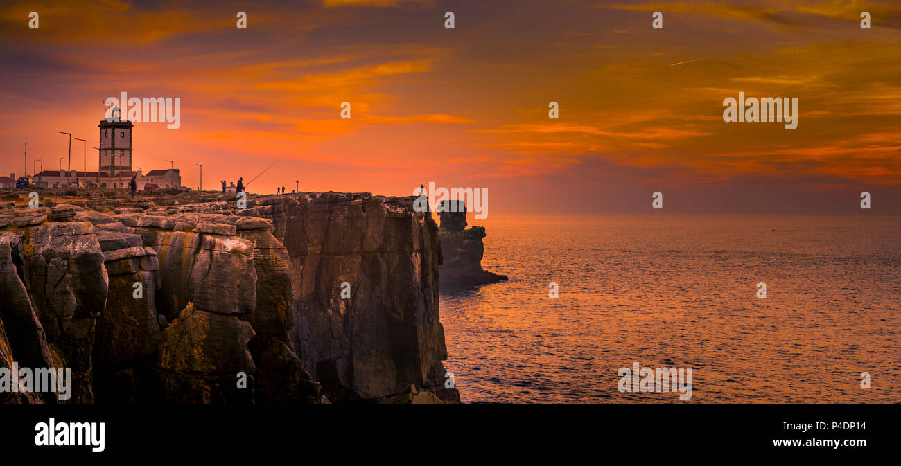 Europa, Portugal, Peniche, Klippen, Cabo Carvoeiro Stock Photo