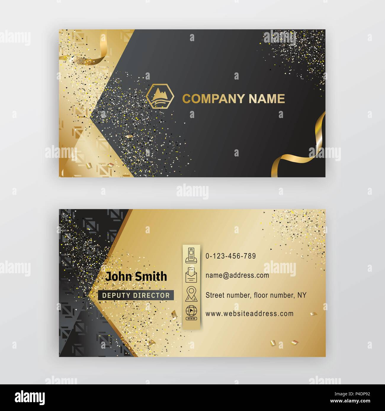 Business card black gold background with logo thin icons luxury business card black gold background with logo thin icons luxury background colourmoves