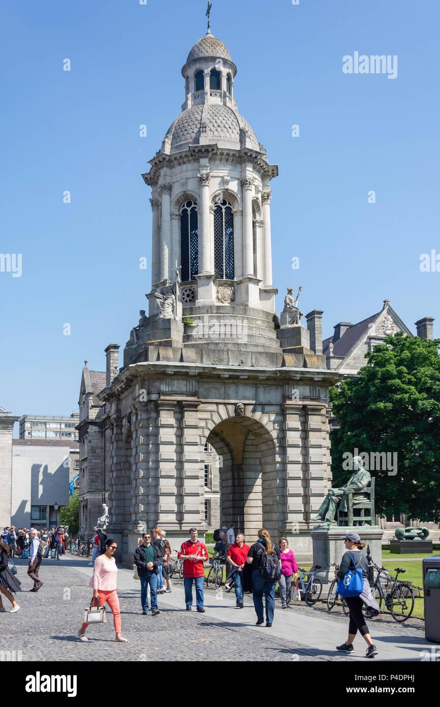 The Campanile, Parliament Square, Trinity College Dublin, College Green, Dublin, Leinster Province, Republic of Ireland Stock Photo