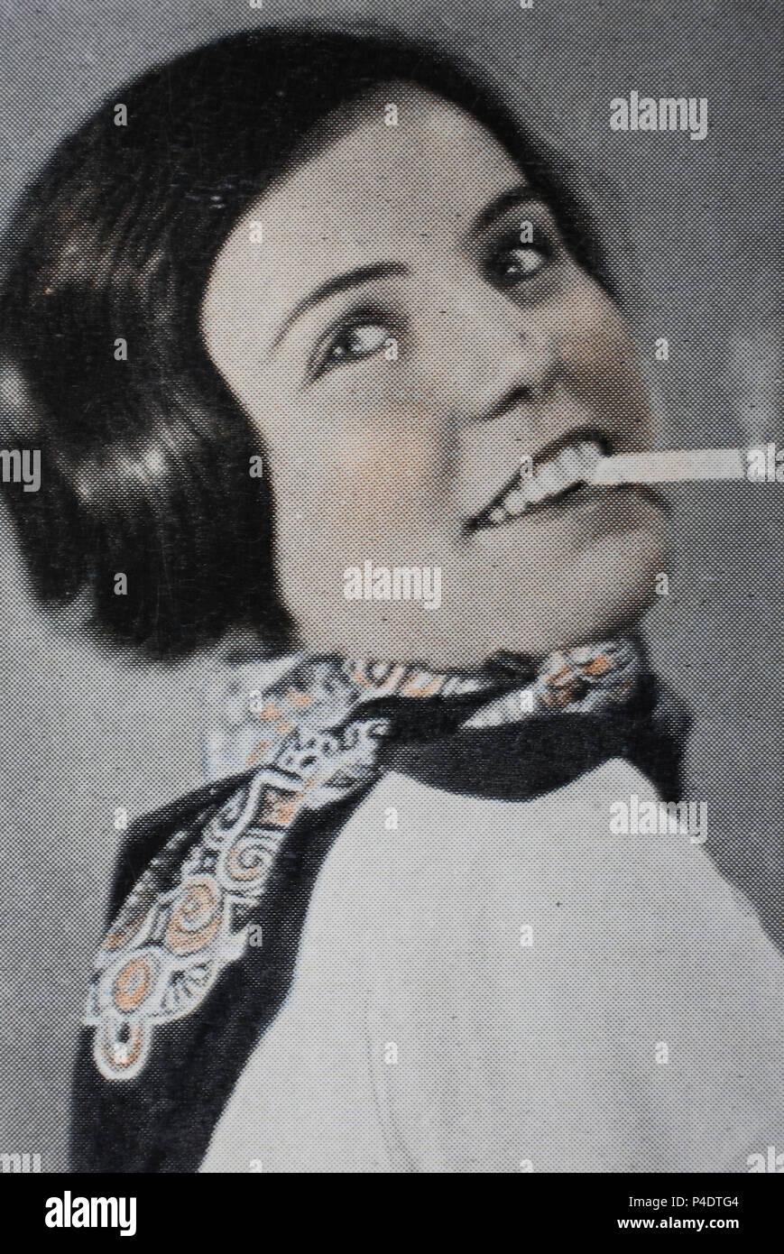 'Erika Streithorst ( 23. April 1908;  30. Juni 1960 in Berlin war eine deutsche Schauspielerin, Dialogautorin und Dialogregisseurin', digital improved reproduction of an historical image - Stock Image