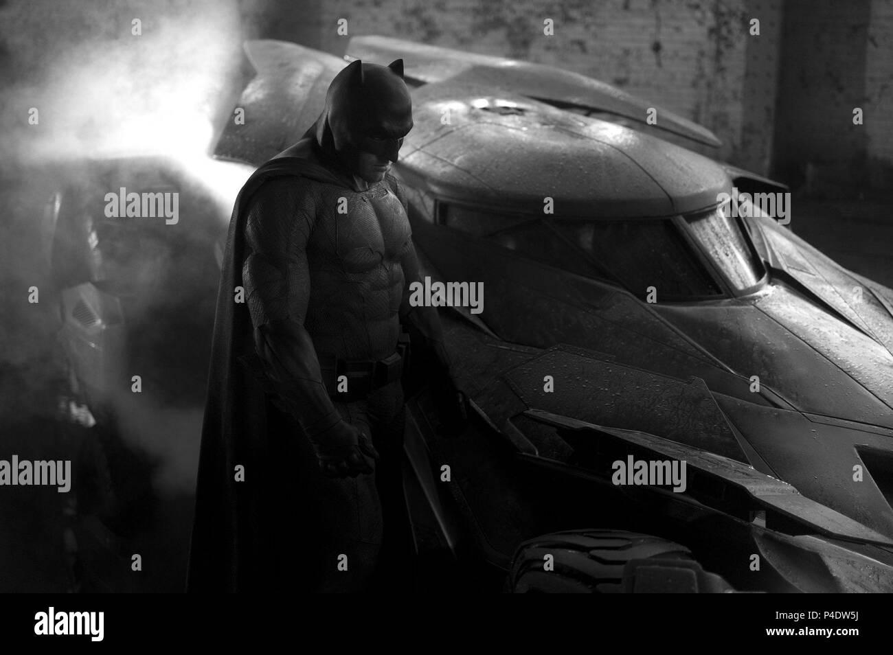 Original Film Title: BATMAN V SUPERMAN: DAWN OF JUSTICE.  English Title: BATMAN V SUPERMAN: DAWN OF JUSTICE.  Film Director: ZACK SNYDER.  Year: 2016.  Stars: BEN AFFLECK. Credit: DC ENT./DUNE ENT/SYNCOPY/WARNER BROS / Album - Stock Image