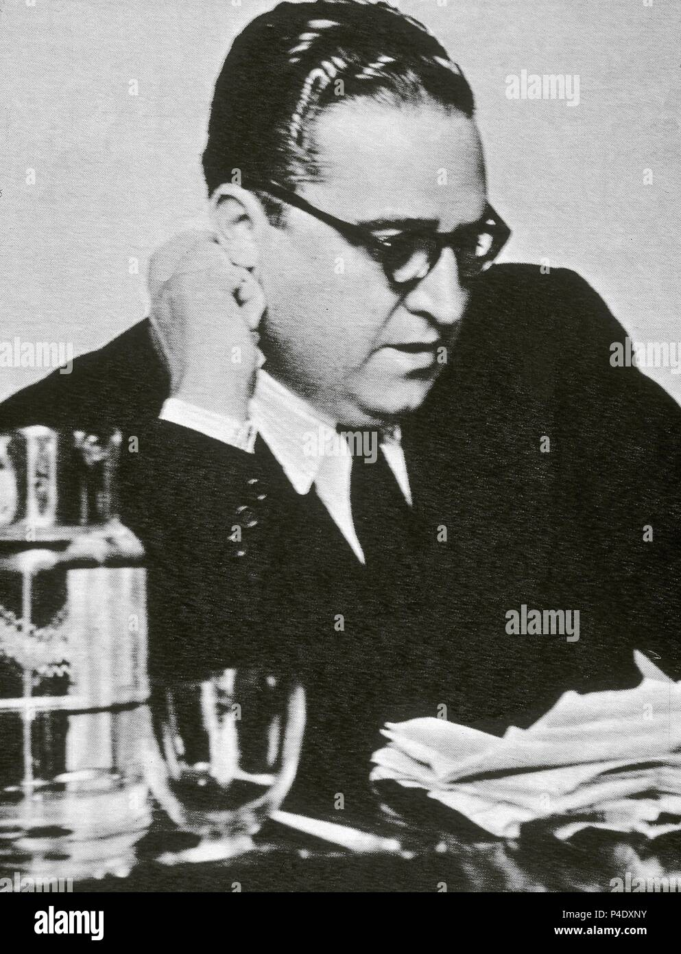 AGUSTIN DE FOXA (1906-1959) POETA NOVELISTA PERIODISTA Y DIPLOMATICO ESPAÑOL. Stock Photo