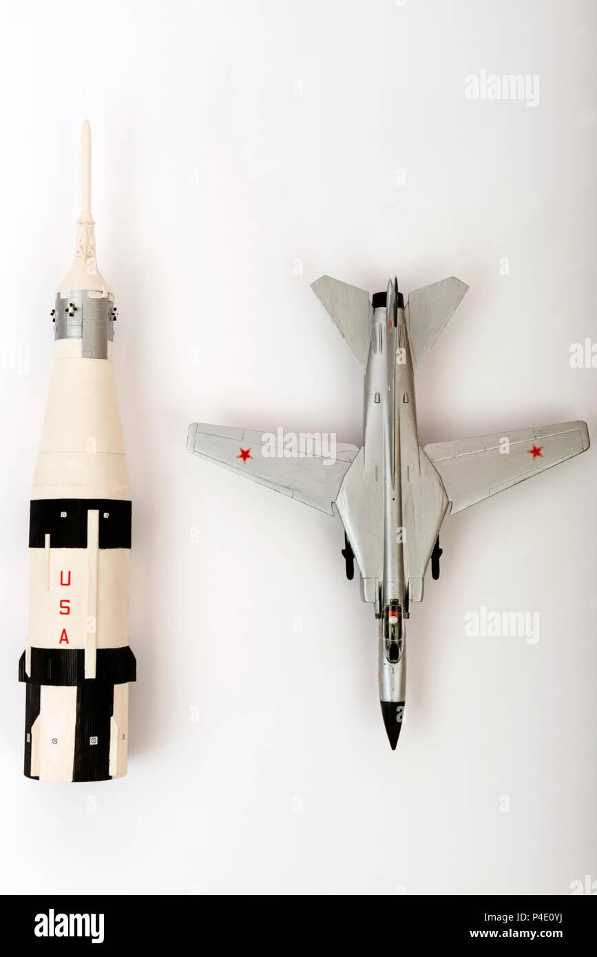 Plastic scale models - Stock Image