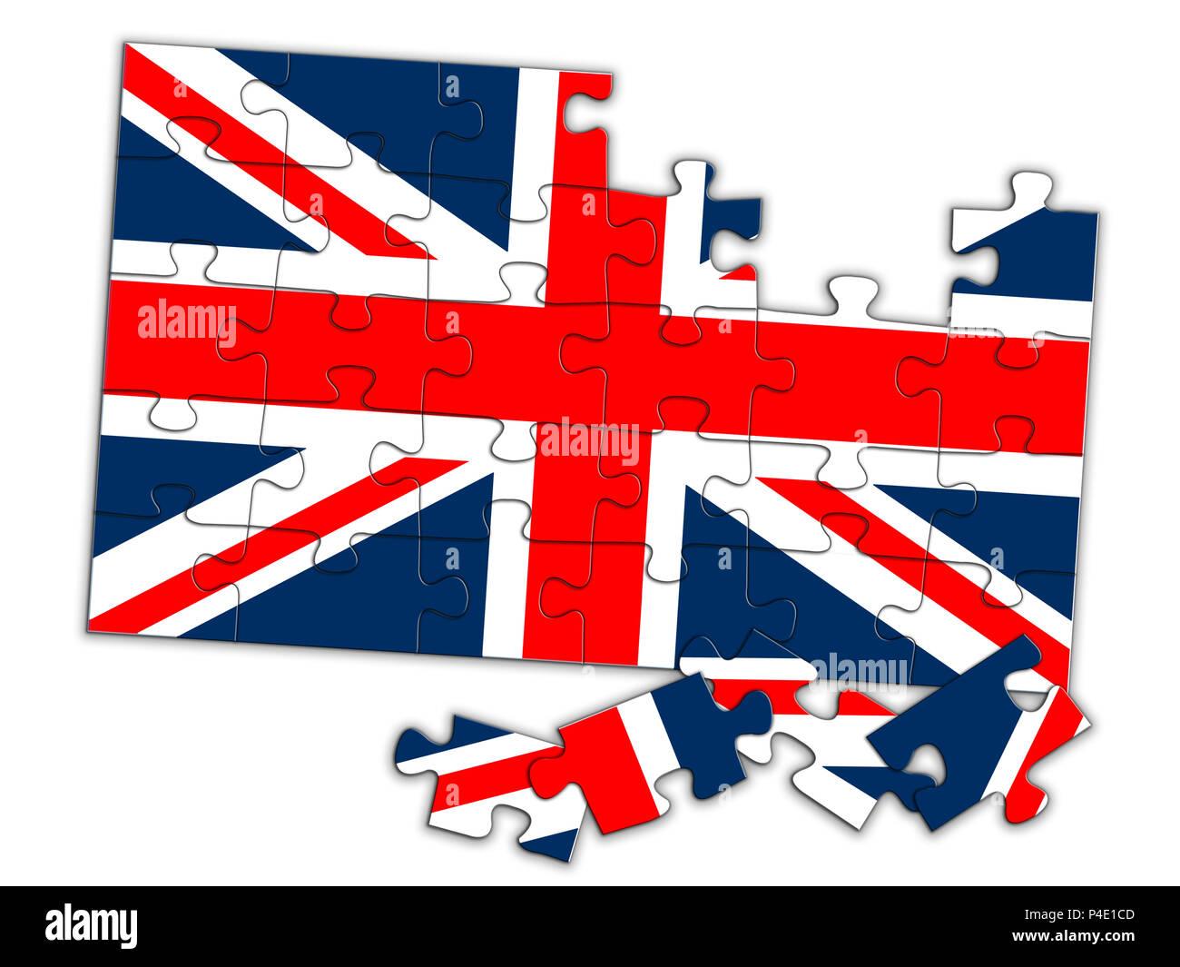 UK puzzle, Political comment, concept. - Stock Image