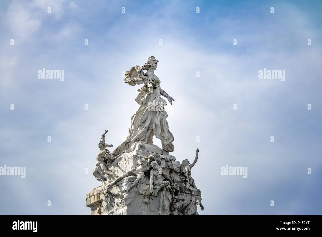 Monument to the Spaniards (Monumento de los Espanoles) in Palermo - Buenos Aires, Argentina - Stock Image