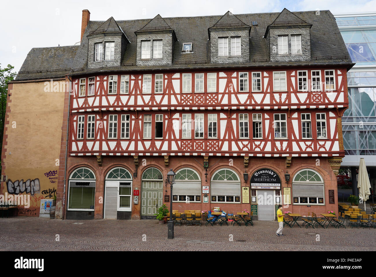 Haus Wertheim Wertheym Fahrtor 1 Frankfurt Am Main Germany Stock