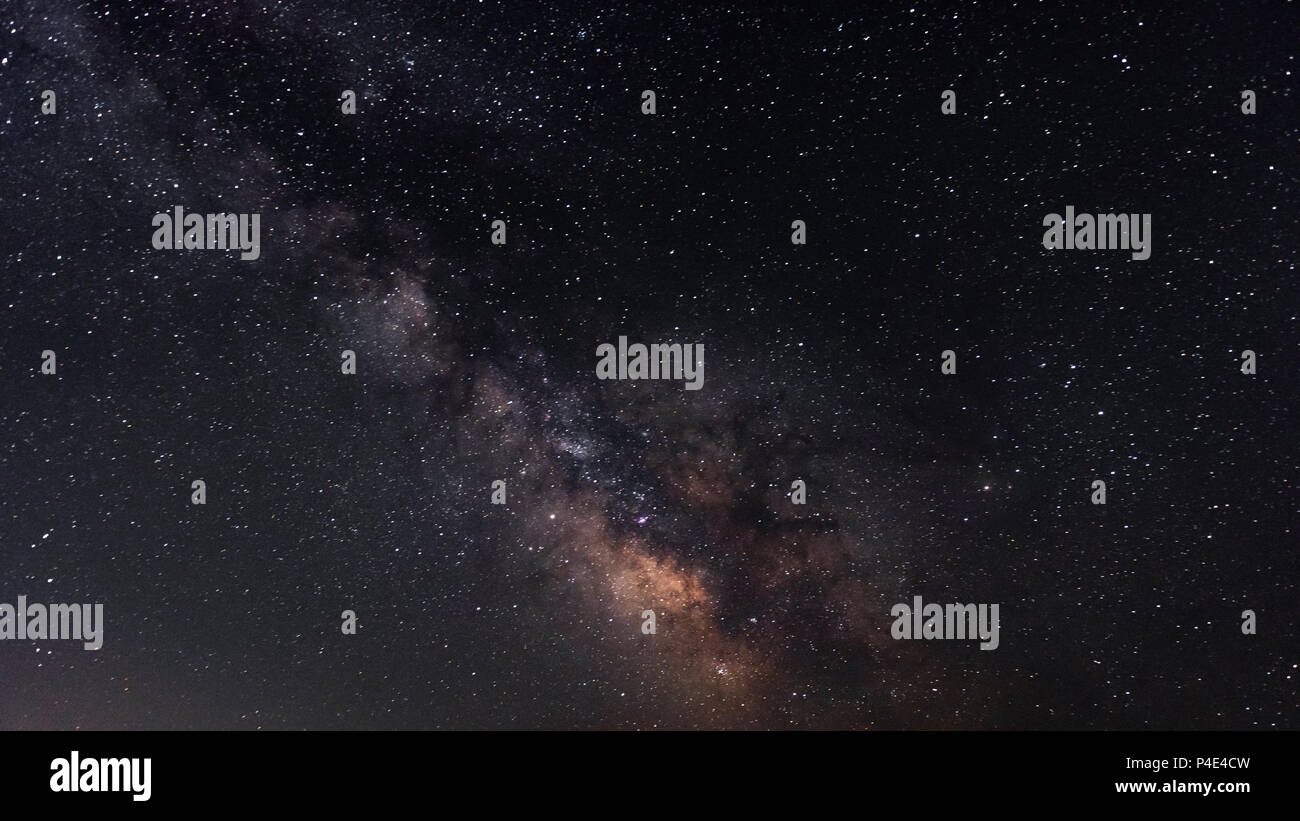 Milky Way galaxy on the starry night sky - Stock Image