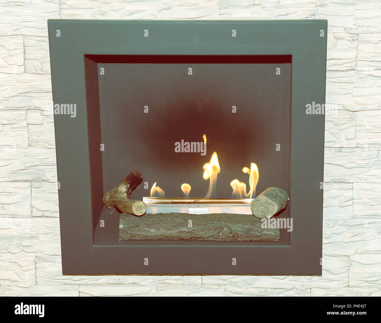 plus natural fireplace standing of corner propane best ebay free vent gas chic ventless insert