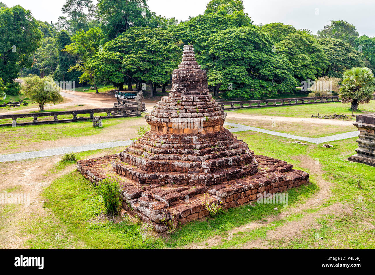 The temple complex of Angkor Wat in Cambodia. - Stock Image