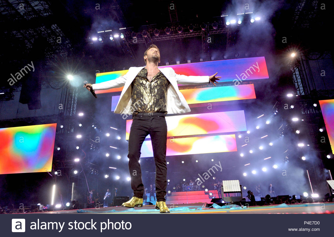 cesare cremonini in concert, san siro stadium, milan 20-06-2018 Stock Photo