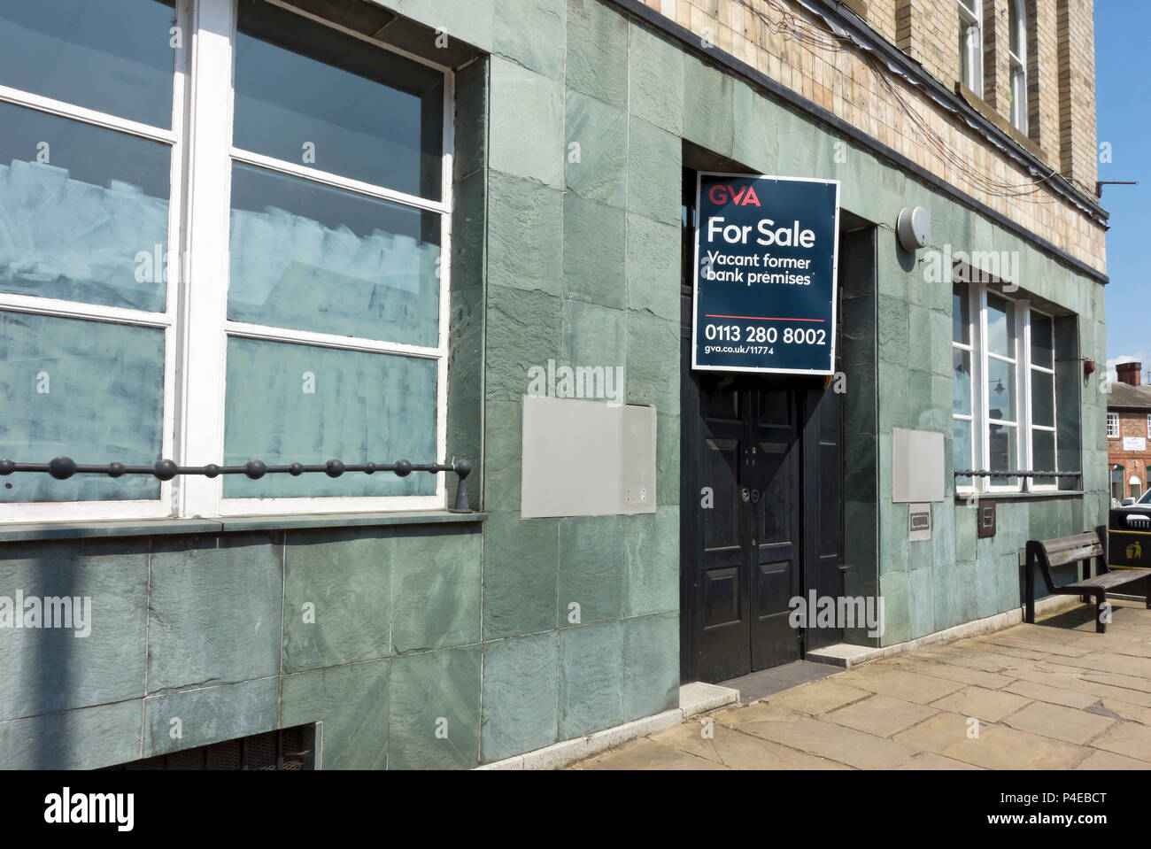 Closed Natwest bank branch Thirsk North Yorkshire England UK United Kingdom GB Great Britain - Stock Image