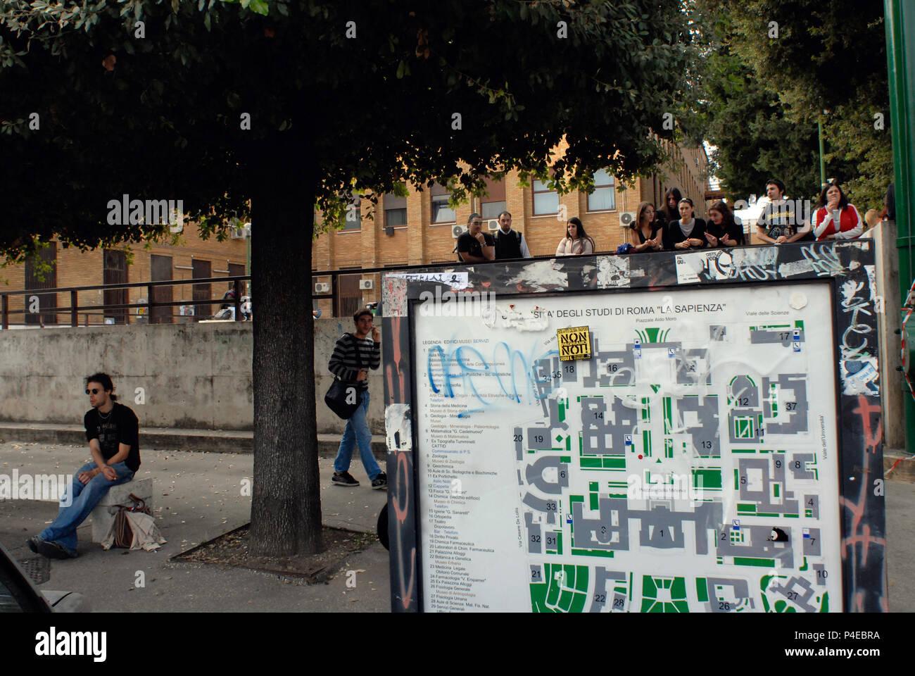 "Students of Public University ""La Sapienza"". Rome Italy. Stock Photo"