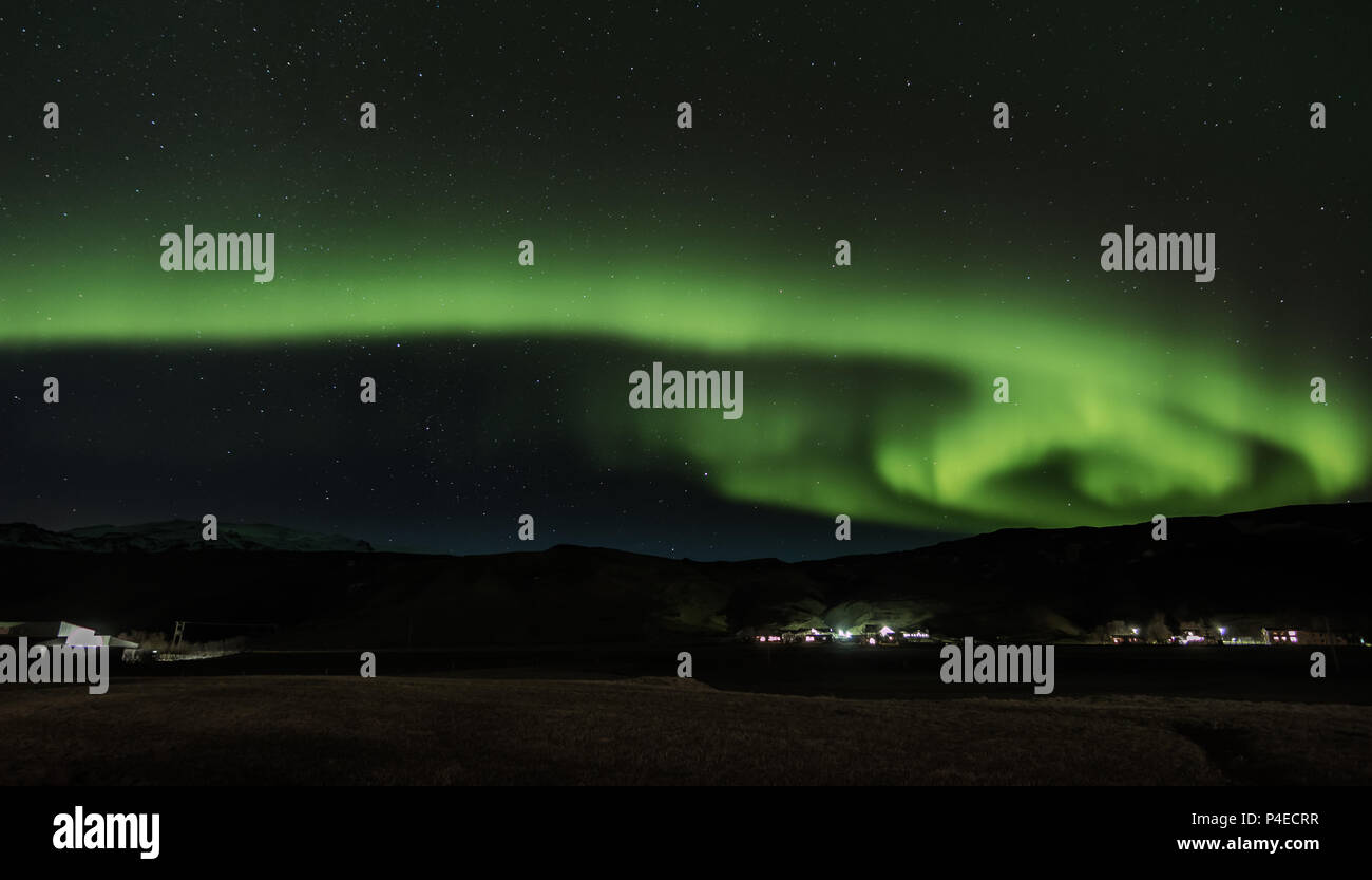 Northern lights at Iceland Stock Photo