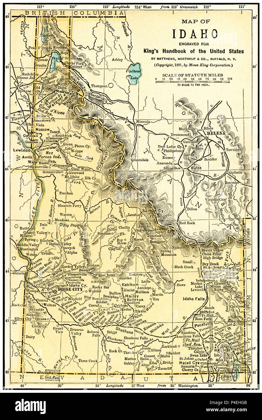 Download United States Map Idaho PNG