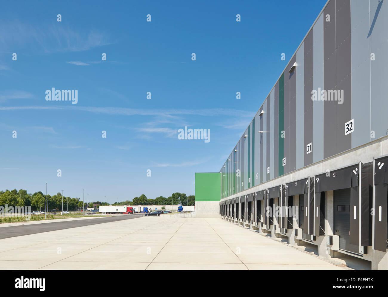 Logistikzentrum Stock Photo