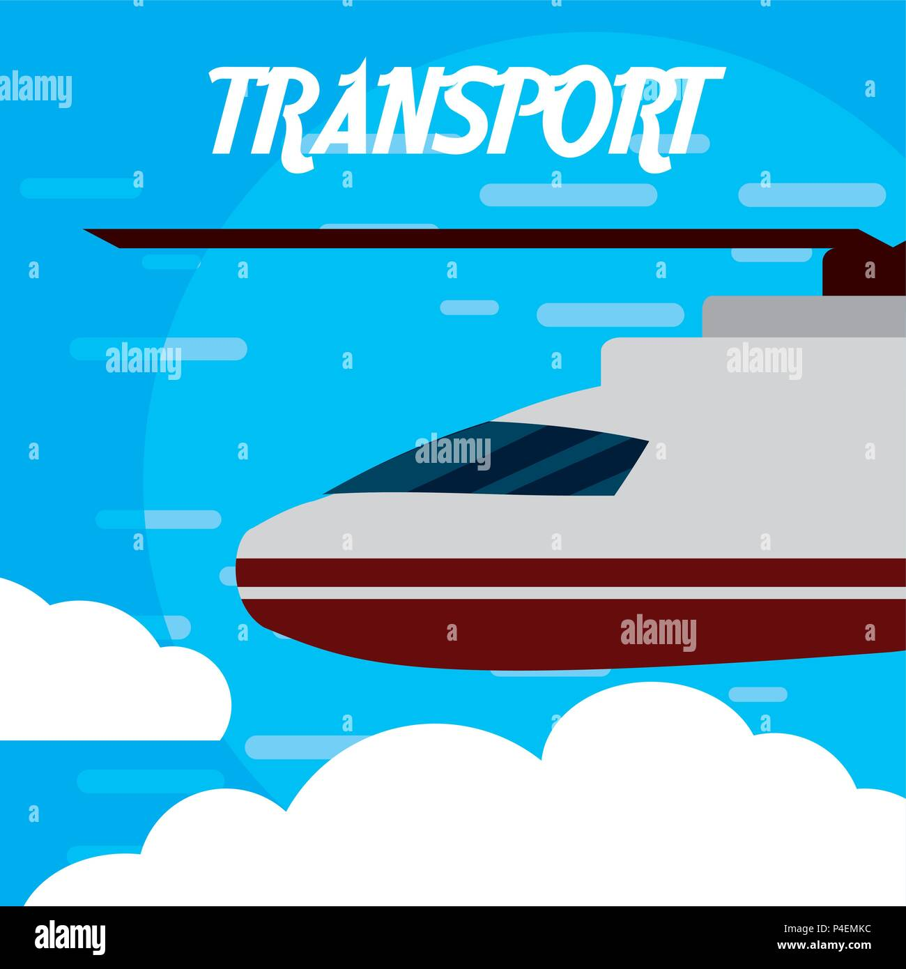 Helicopter aircraft transport - Stock Vector