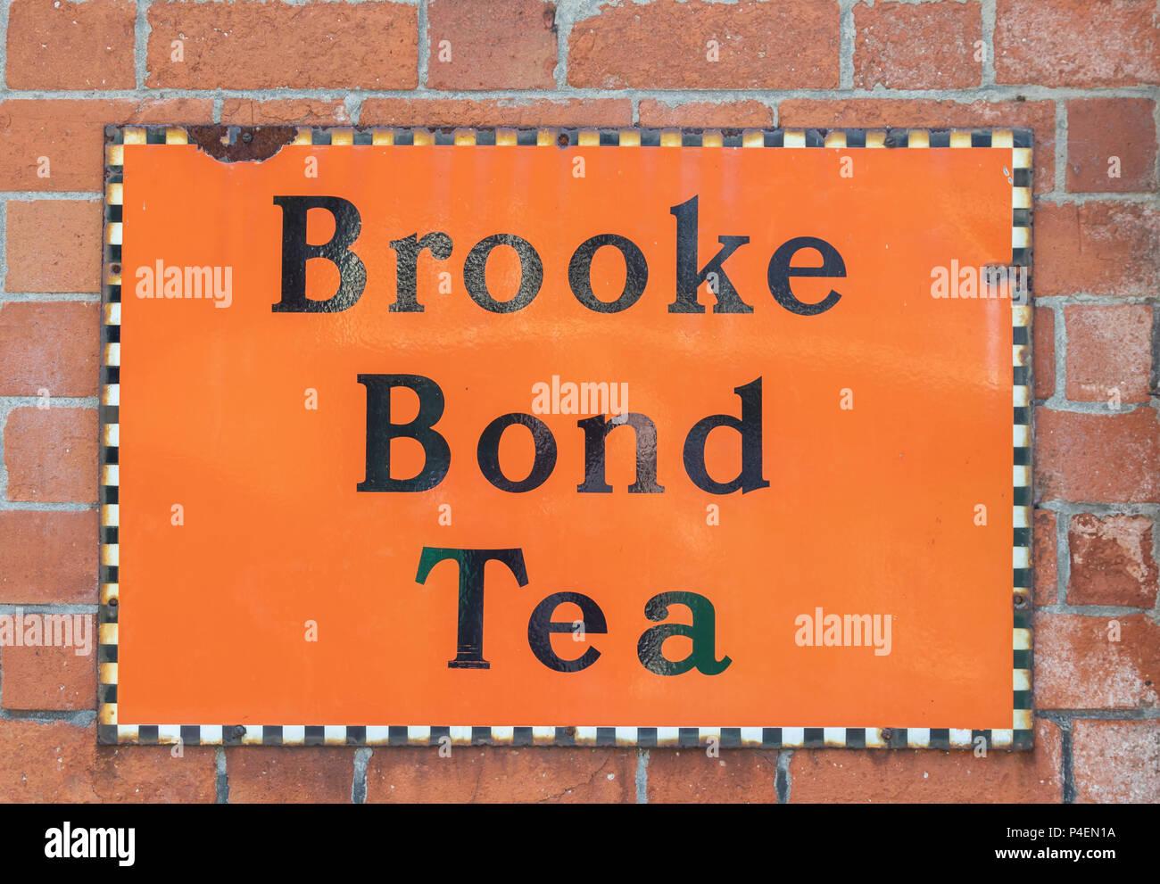 BrookeBond Dividend Tea Vintage Kitchen Advert Medium Metal Tin Sign