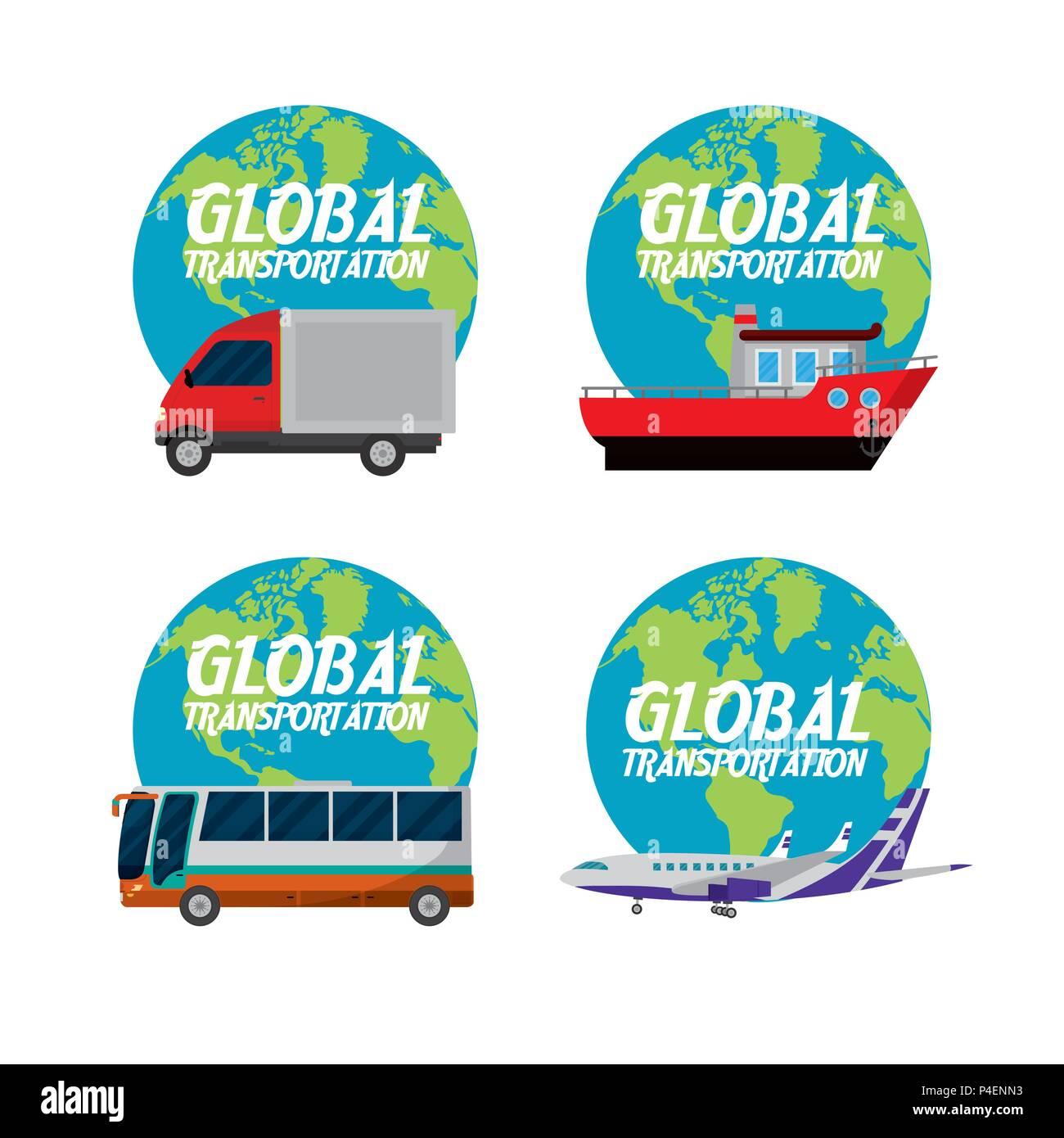 Global transport concept - Stock Image