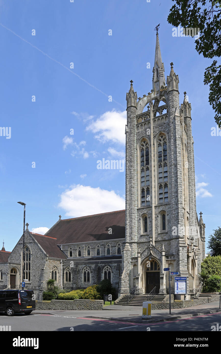 Trinity Church on St Nichoals Way in Sutton town centre, Surrey, UK - Stock Image