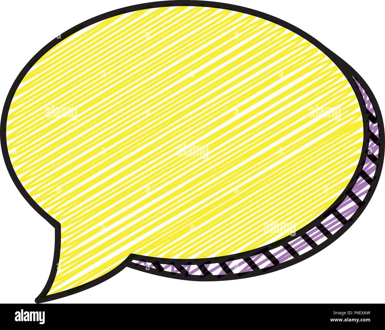 doodle chat bubble pop art message Stock Vector Art & Illustration