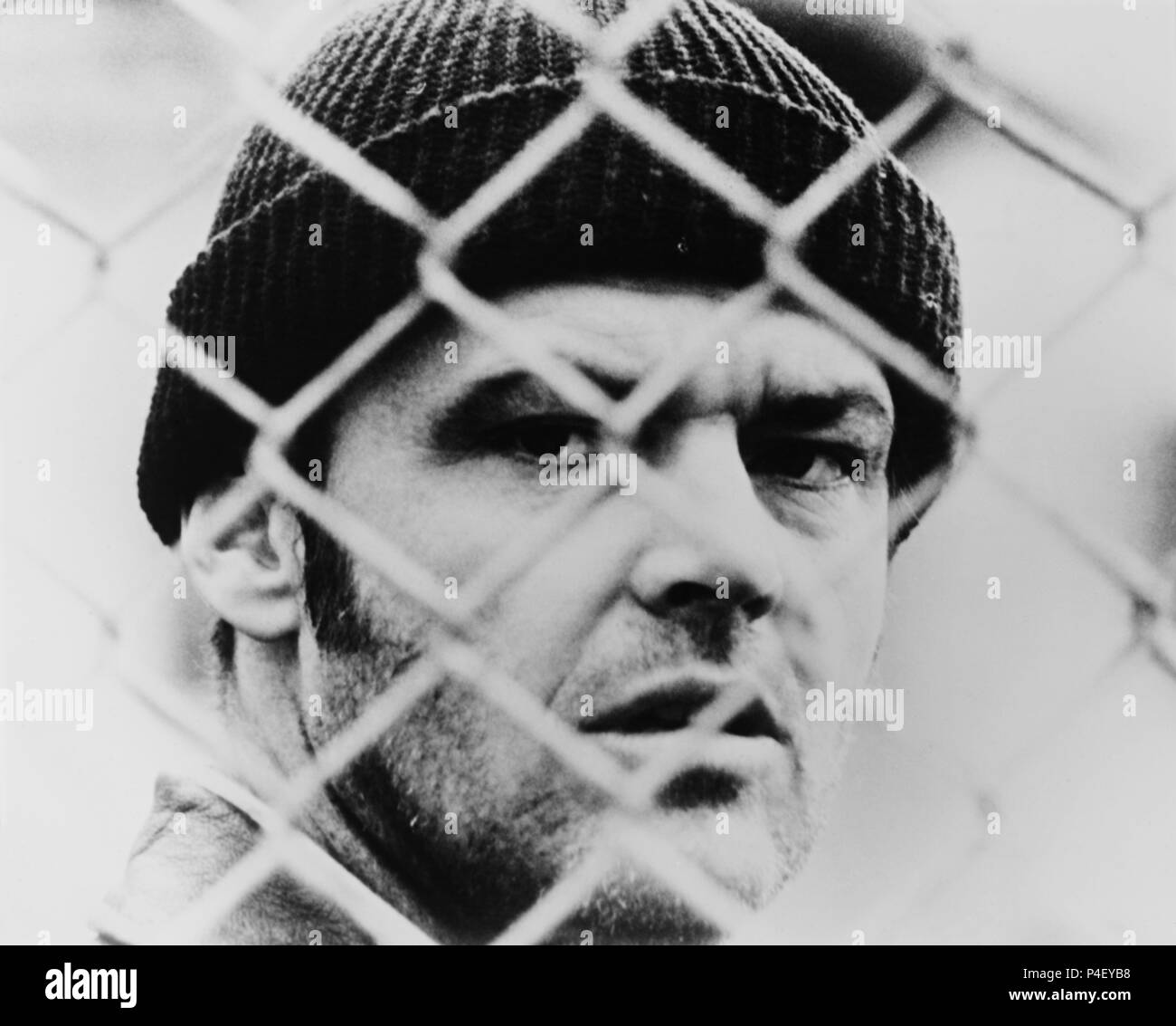 Original Film Title: ONE FLEW OVER THE CUCKOO'S NEST.  English Title: ONE FLEW OVER THE CUCKOO'S NEST.  Film Director: MILOS FORMAN.  Year: 1975.  Stars: JACK NICHOLSON. Credit: UNITED ARTISTS / Album - Stock Image