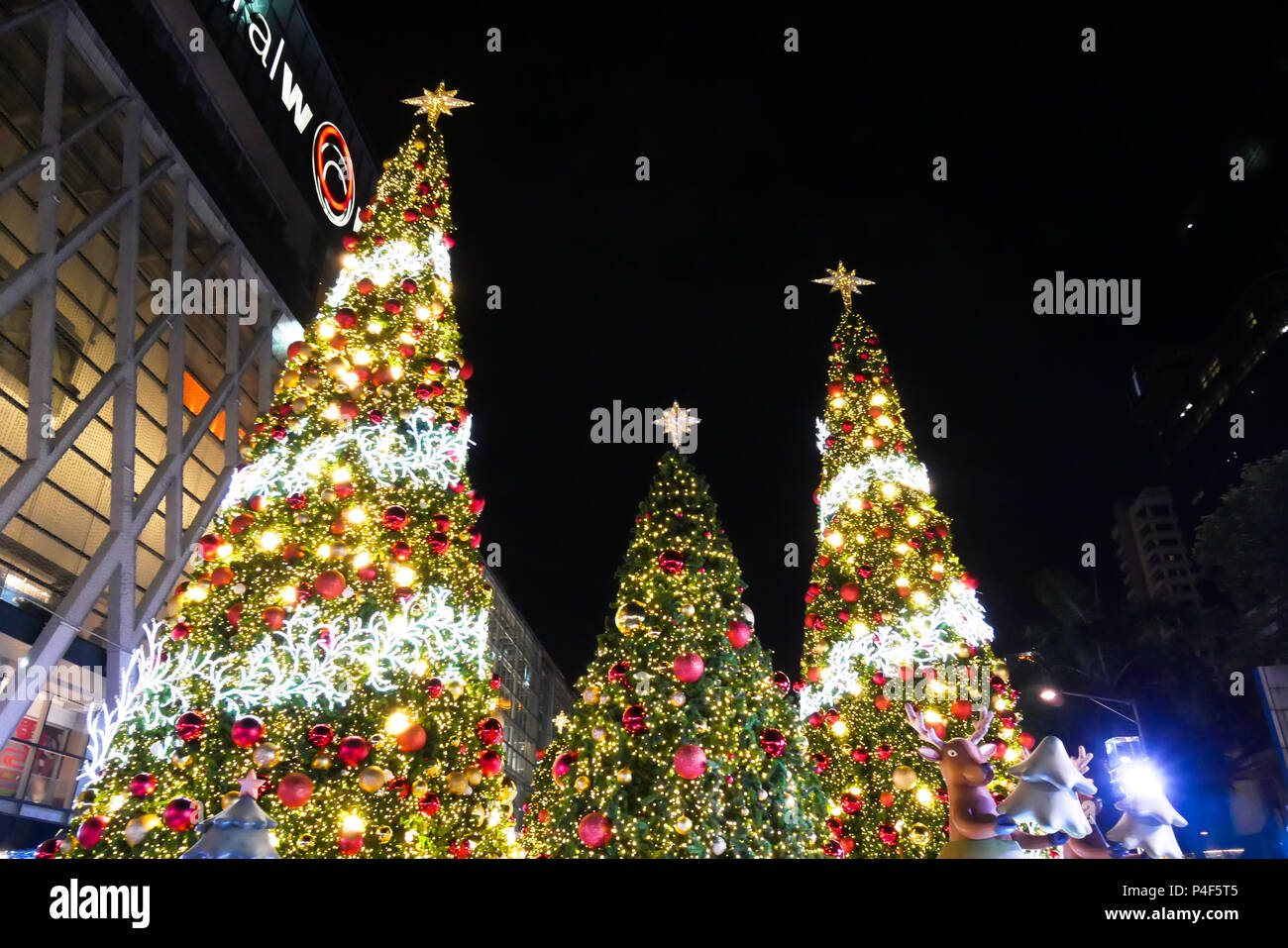 bangkok thailand november 21 2017 merry christmas and happy new year 2018 event is showing a centralworld the popular and large shopping mall in