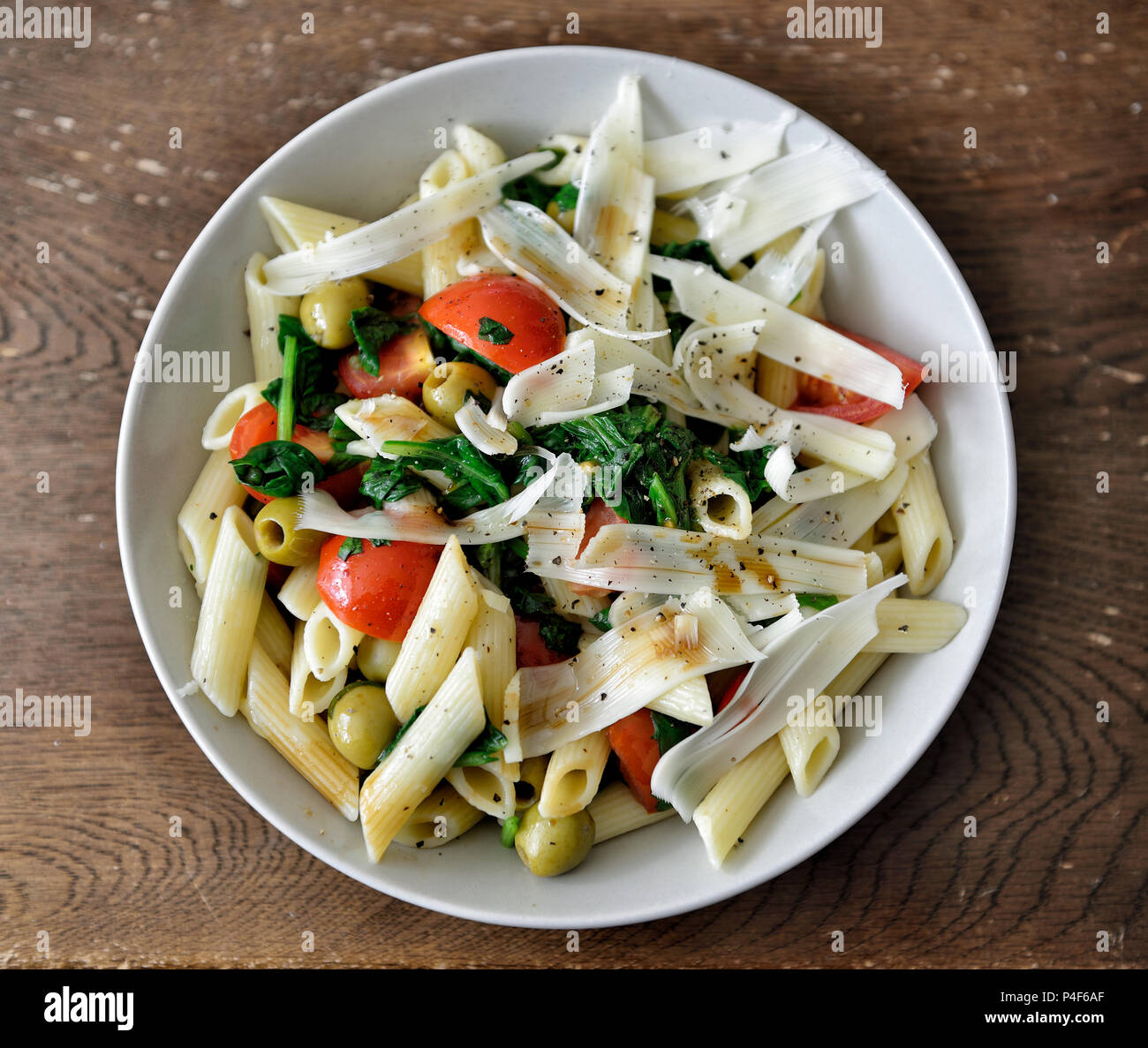 Vegan Pasta Meal - Stock Image