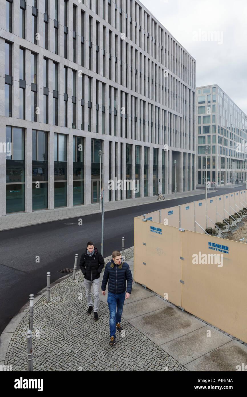 Berlin, Germany, office building in Ella-Trebe-Strasse in Berlin-Moabit Stock Photo