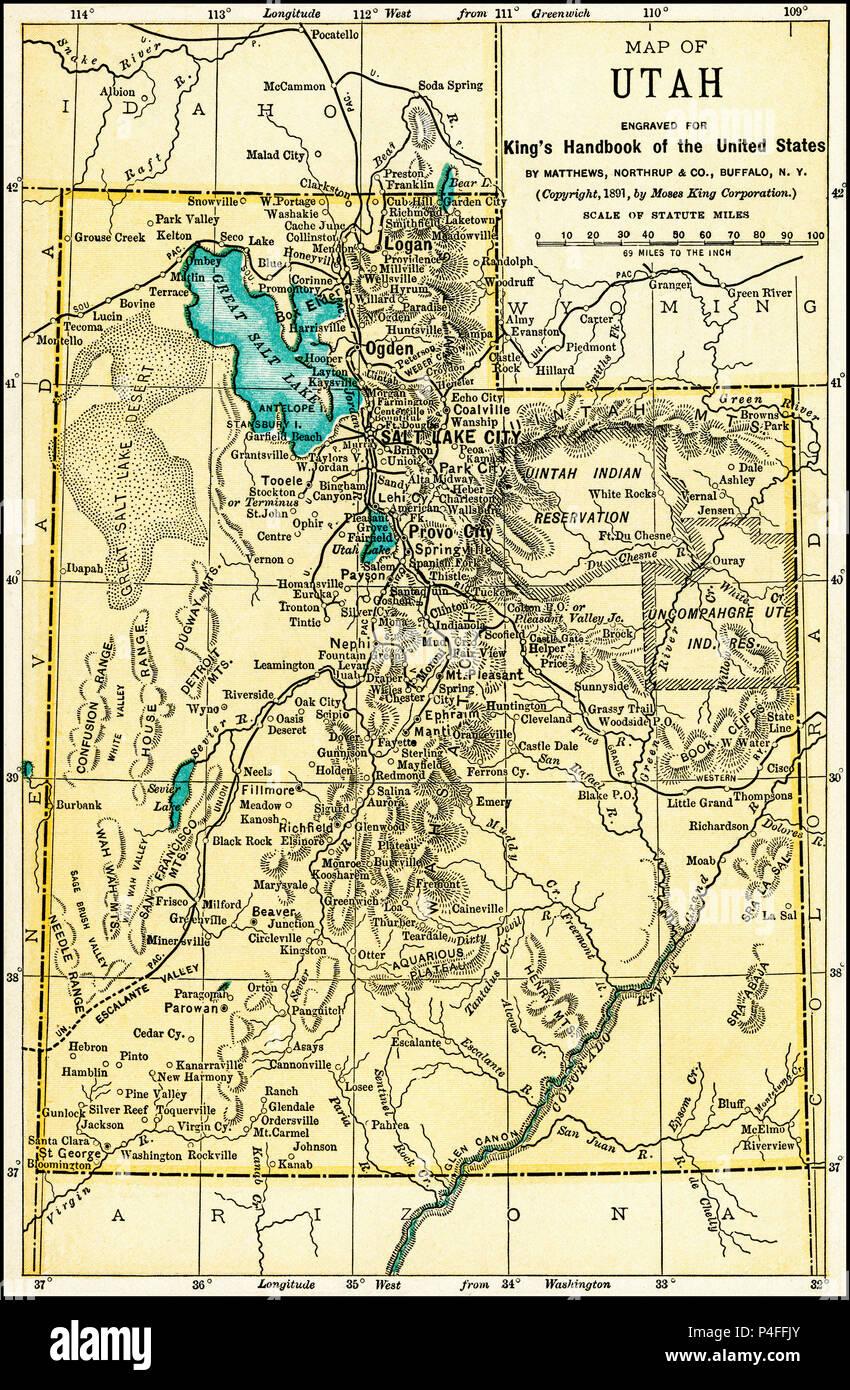 Map Of Salt Lake City Stock Photos Map Of Salt Lake City Stock