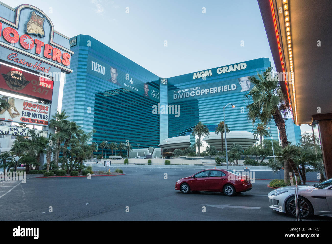 Hotels along the strip in Las Vegas Nevada , USA June 2018 Stock ...