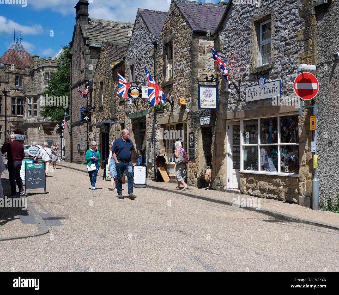 A street in Bakewell,  Derbyshire  UK - Stock Image