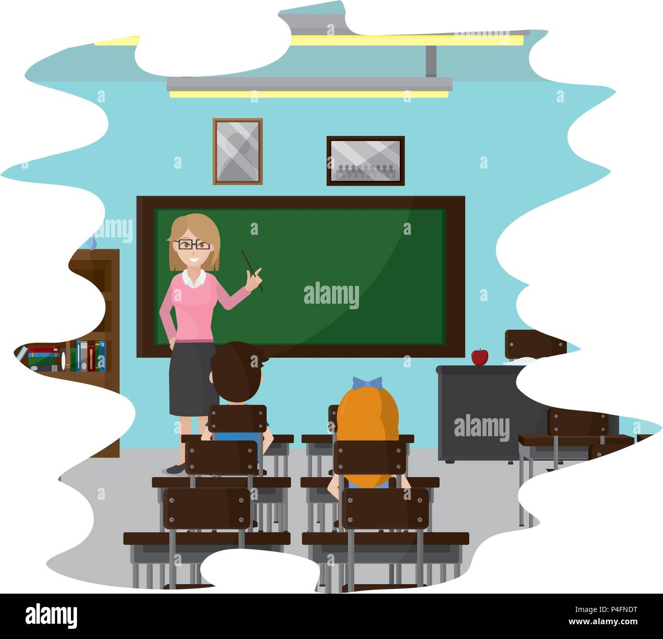 students learning of knowledge teacher education - Stock Vector