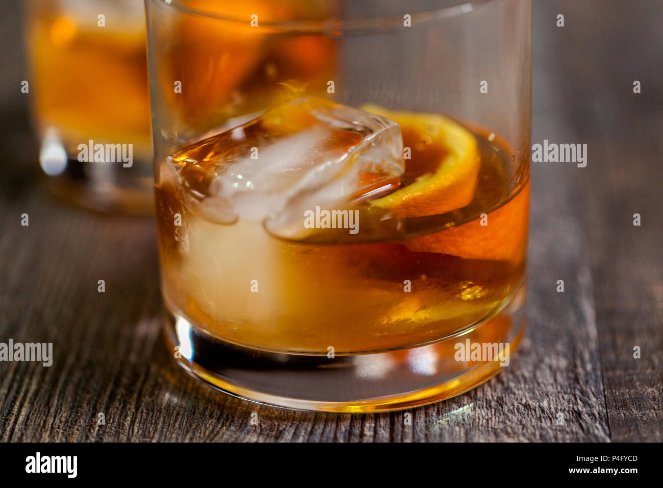 how to cut orange peel for old fashioned