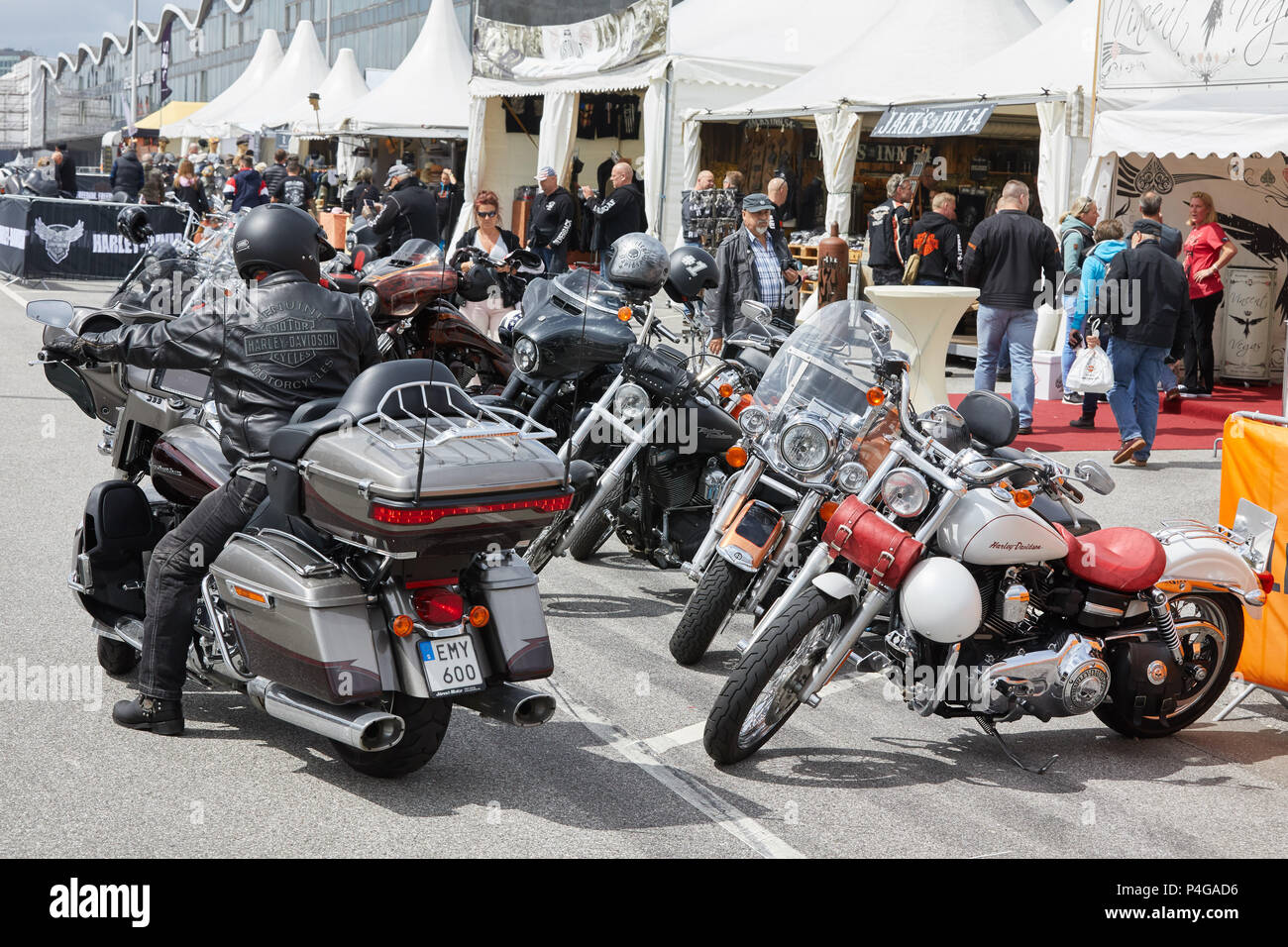 Hamburg, Germany  22nd June, 2018  Harley Davidson