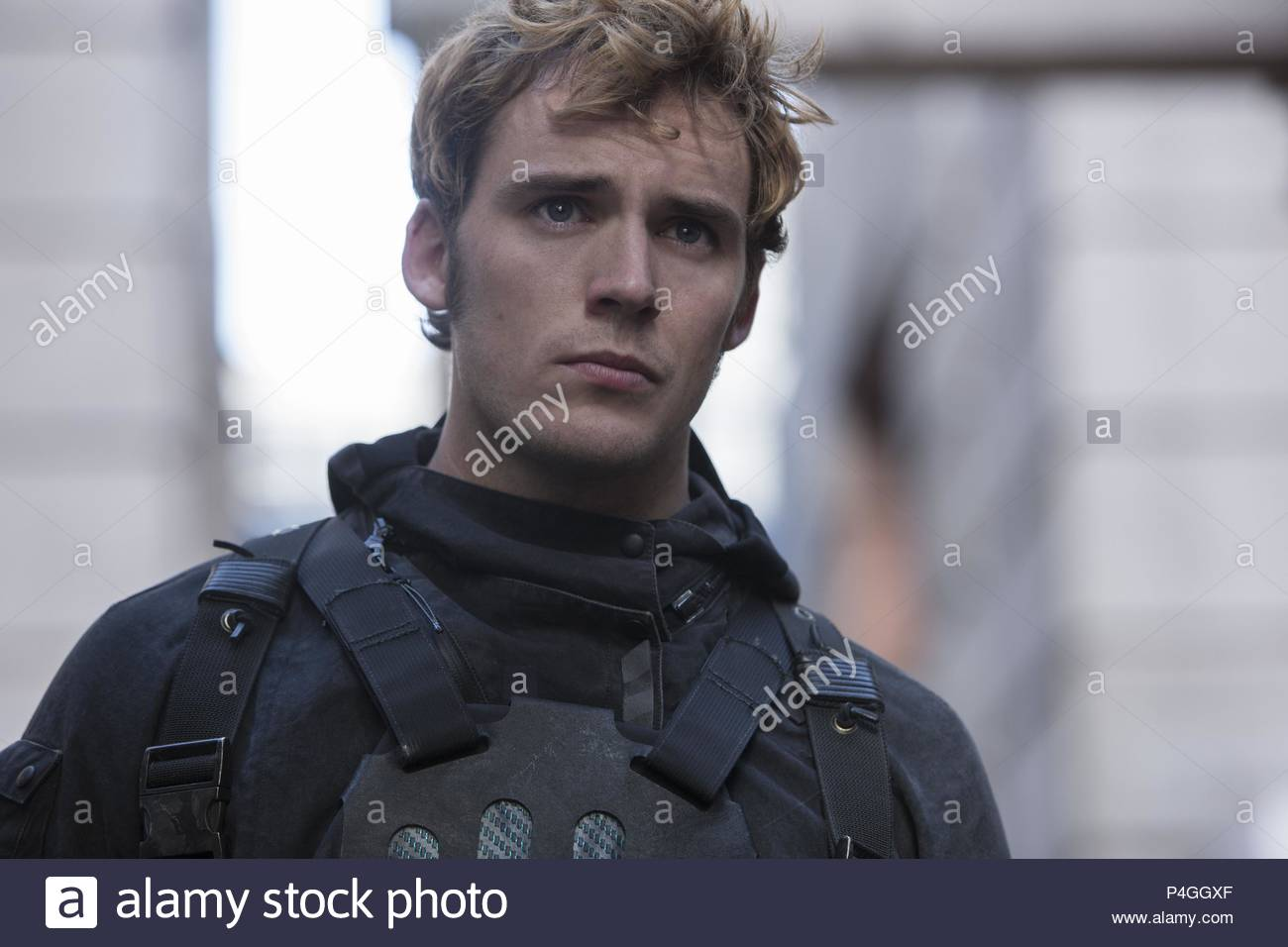 Original Film Title: THE HUNGER GAMES: MOCKINGJAY-PART 2.  English Title: THE HUNGER GAMES: MOCKINGJAY-PART 2.  Film Director: FRANCIS LAWRENCE.  Year: 2015.  Stars: SAM CLAFLIN. Credit: COLOR FORCE/LIONGATE/STUDIO BABELSBERG / CLOSE, MURRAY / Album - Stock Image
