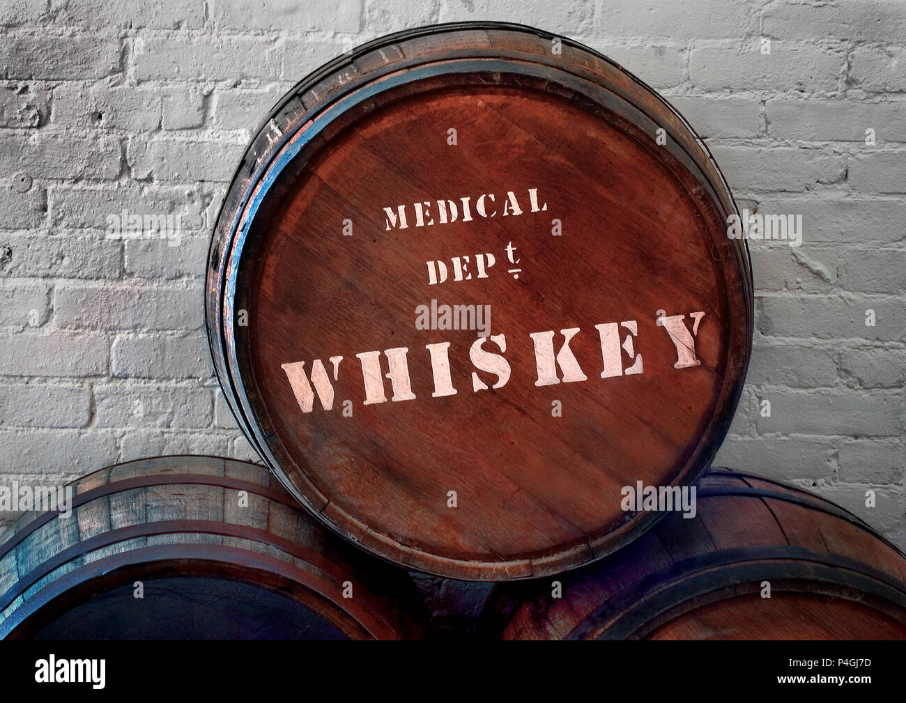 old 1800s medicinal medical whiskey barrel stock photo 209348593