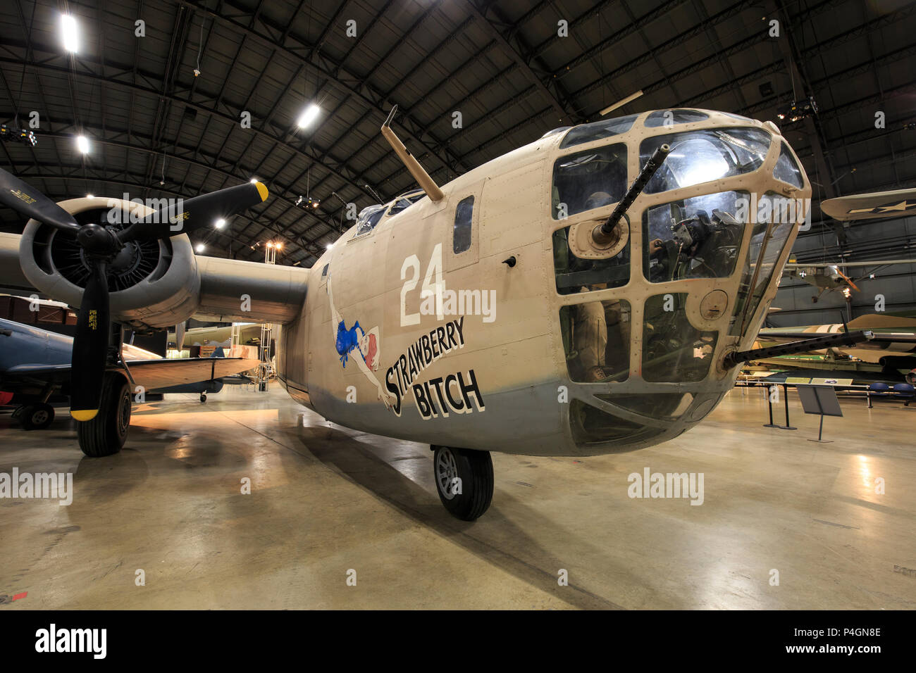 Consolidated B-24 D Liberator American World War 2 bomber. - Stock Image