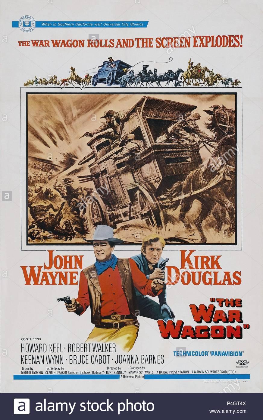 Original Film Title: THE WAR WAGON.  English Title: THE WAR WAGON.  Film Director: BURT KENNEDY.  Year: 1967. Credit: UNIVERSAL PICTURES / Album - Stock Image