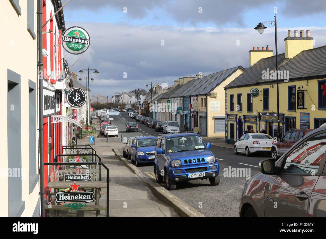 Dunfanaghy village in County Donegal, Ireland. - Stock Image