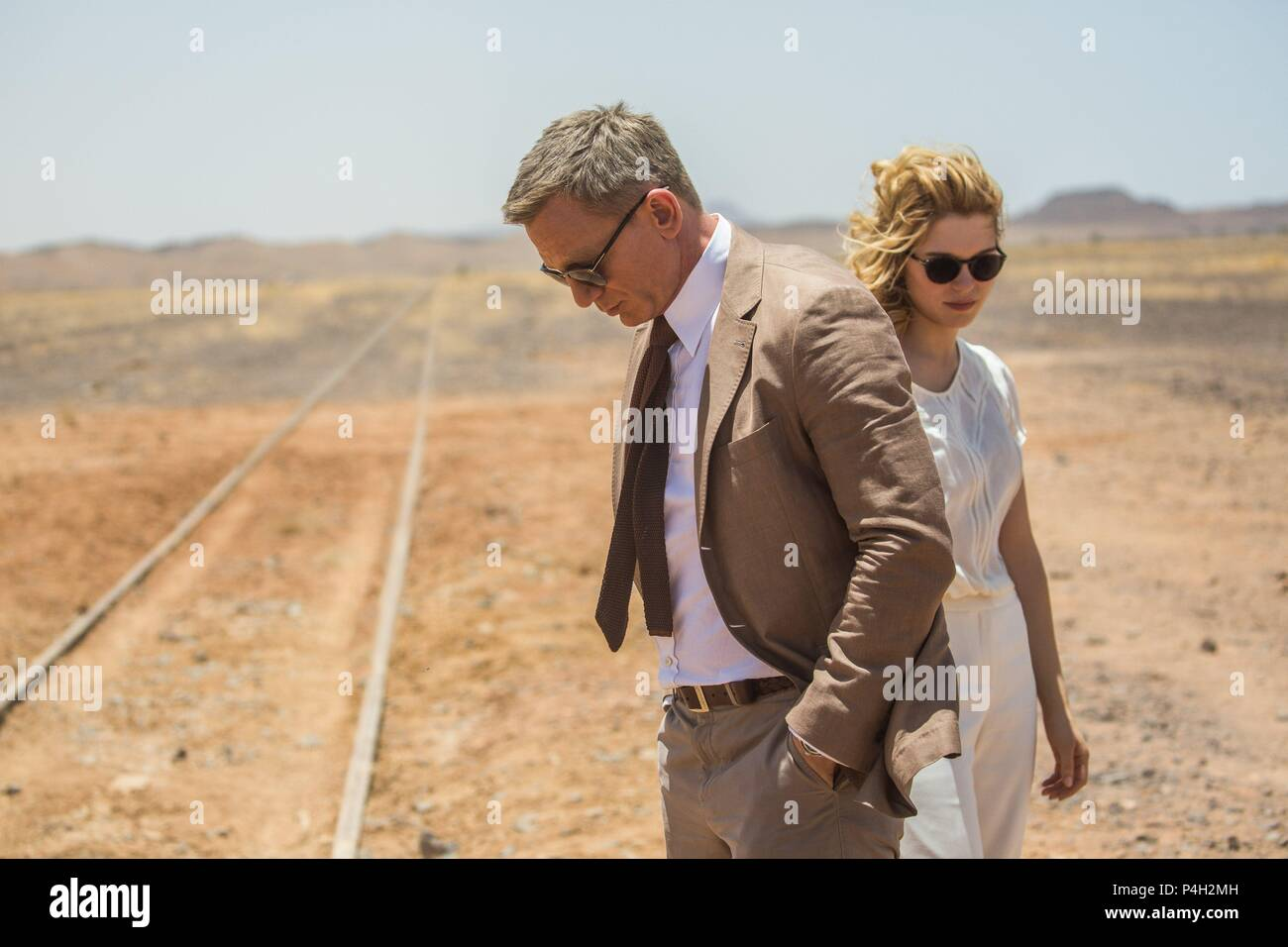 Original Film Title: SPECTRE.  English Title: SPECTRE.  Film Director: SAM MENDES.  Year: 2015.  Stars: DANIEL CRAIG; LEA SEYDOUX. Credit: COLUMBIA PICTURES / Album - Stock Image