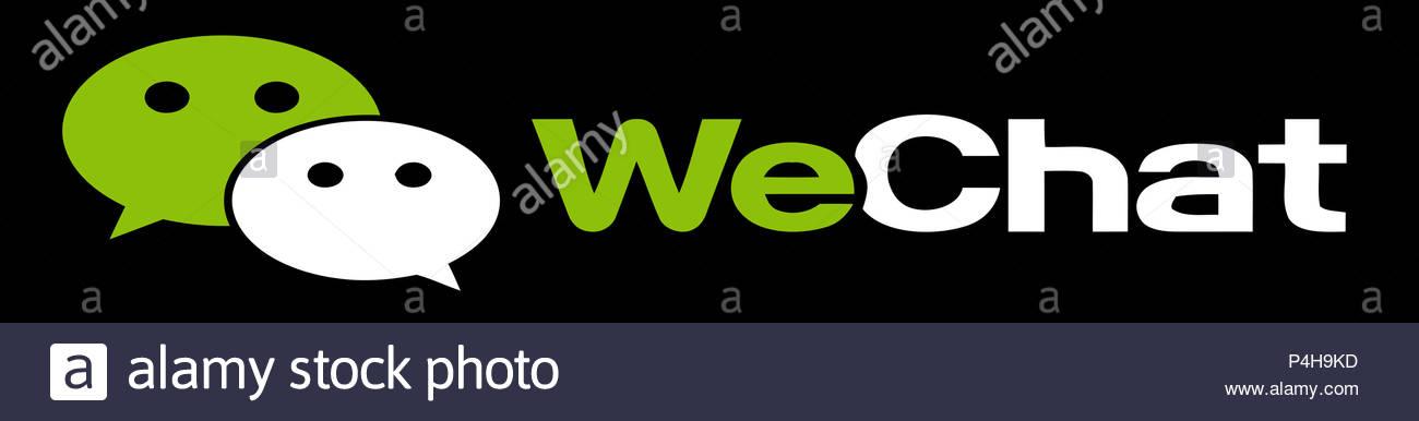 wechat logo icon smartphone app illustration stock photo 209363825